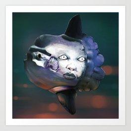 Fishface Art Print
