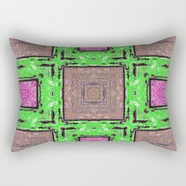 Colorful Abstract Wood Pattern SB79 Rectangular Pillow