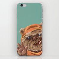 ewok iPhone & iPod Skins featuring Ewok by electricorn