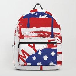 MY EARTH USA Flag LOVE Tee Design Backpack