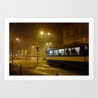Night-time in Krakow 1 Art Print