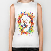 marylin monroe Biker Tanks featuring Marylin Monroe by Psyca