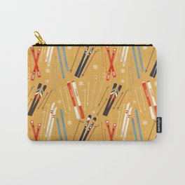 Bright Retro Skii Pattern Carry-All Pouch