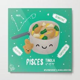 Filipino Food Zodiac: Pisces Tinola Metal Print