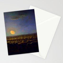 "Jean-François Millet ""The Sheepfold, Moonlight"" Stationery Cards"