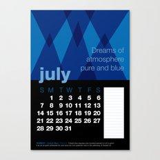 2013 Pigment to Pantone Calendar – JULY Canvas Print