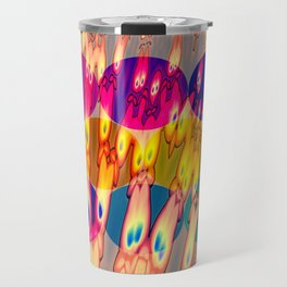 firebodies with blue eyes II forms Travel Mug