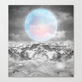 Places Neither Here Nor There (Guardian Moon) Canvas Print