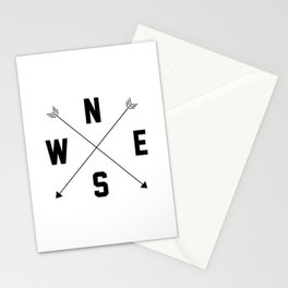 Letterman Compass Stationery Cards