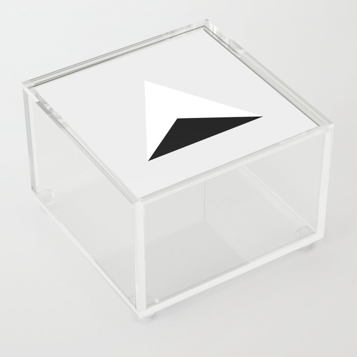 Black in White Triangular Acrylic Box