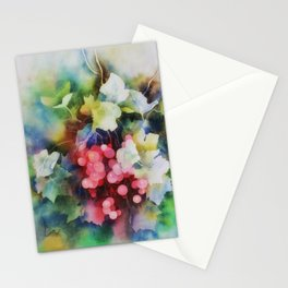 Berries Watercolor Artwork Stationery Cards