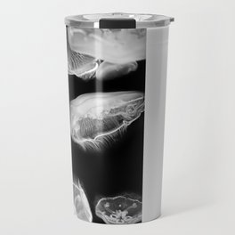 Jellyfish Photography | Wildlife Art | Nature | Black and White Photography Travel Mug