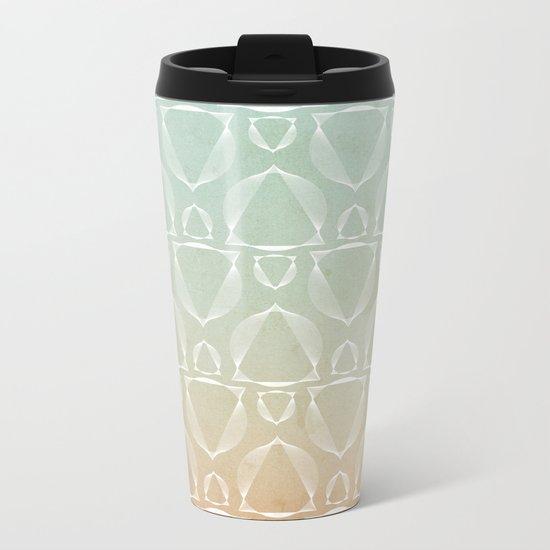 """North and South"" pattern version Metal Travel Mug"