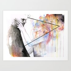two different lights Art Print