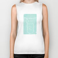 hamster Biker Tanks featuring Party Hamster  by Chet and Dot