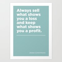 When to sell – Jesse Livermore Art Print