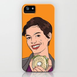 Anne Hathaway With Bagel  iPhone Case