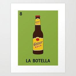 Texan Loteria - La Botella Art Print