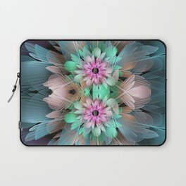 Soft coloured Twin Flowers Laptop Sleeve