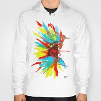 native american Hoodies featuring Native American by ART HOLES