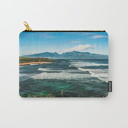 Wave Series Photograph No. 29 - The Emerald Sea - Hawaii Carry-All Pouch