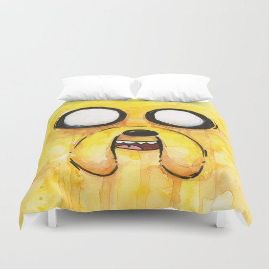 Jake Face Yellow Dog Cartoon Character Duvet Cover