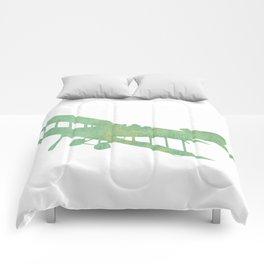 Green nursery airplane wall art print vintage Comforters