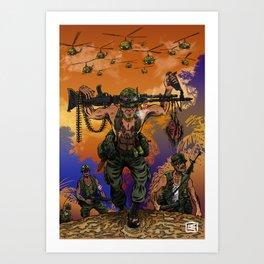War Machine - The Nam Dude Art Print