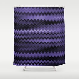 Purple Waves Abstract Shower Curtain