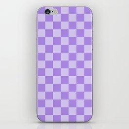 Lavender Check iPhone Skin