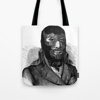 wrestling Tote Bags featuring Wrestling mask by DIVIDUS DESIGN STUDIO