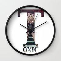 britney Wall Clocks featuring Britney Toxic by eriicms