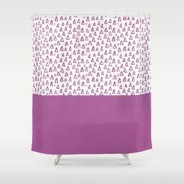 Triangles Purple Shower Curtain