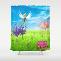 fairy Shower Curtains featuring Fairy by haroulita