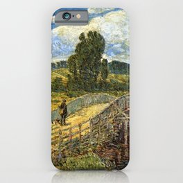 Classical Masterpiece 'Bridge at Old Lyme, Connecticut'' by Frederick Childe Hassam iPhone Case