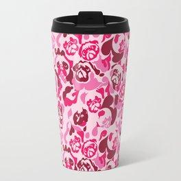 Pug Camouflage Pink Travel Mug