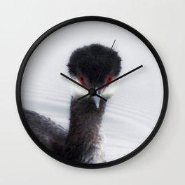 Eared Grebe Wall Clock