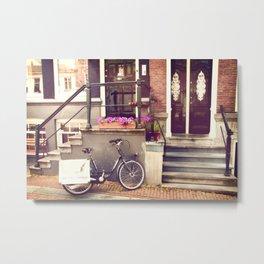 Amsterdam Doorstep Metal Print