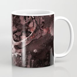 Tattoo cat skull watercolor painting | Original Design Coffee Mug