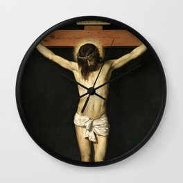 """Diego Velázquez """"The Crucified Christ"""" Wall Clock"""