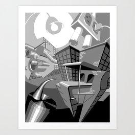 Trippy Architecture Art Print