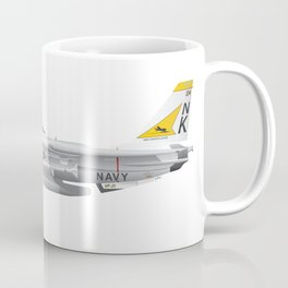 Fighter Squadron 21 (VF-21) Freelancers F-14 Tomcat Illustration Coffee Mug