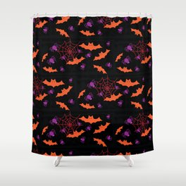 Spider Webs & Bats Shower Curtain