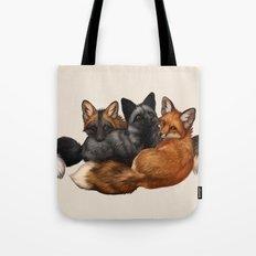 Fox Trio Tote Bag