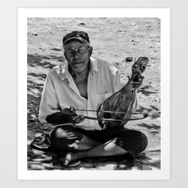 The Cretan busker Art Print