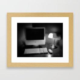 Days Of Homework - Black And White Framed Art Print