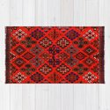 -A30- Red Epic Traditional Moroccan Carpet Design. by arteresting