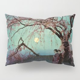 Hiroshi Yoshida - Kumoi Cherry Trees - Japanese Vintage Ukiyo-e Woodblock Painting Pillow Sham