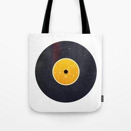 Vinyl Record Star Sign Art   Leo Tote Bag