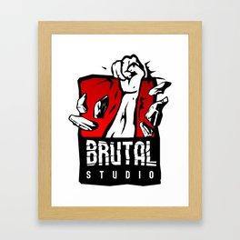 Brutal Studio Logo Framed Art Print